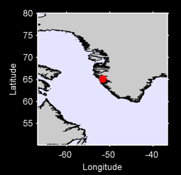 65.09 N, 51.70 W Local Context Map