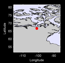 66.70 N, 101.12 W Local Context Map
