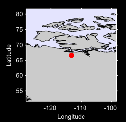 66.70 N, 113.26 W Local Context Map
