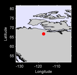 66.70 N, 117.30 W Local Context Map