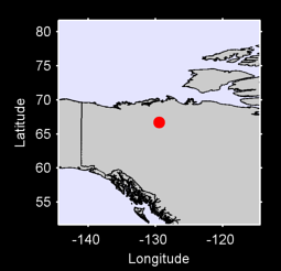 66.70 N, 129.44 W Local Context Map
