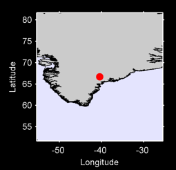 66.70 N, 40.45 W Local Context Map