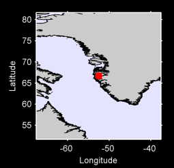 66.70 N, 52.58 W Local Context Map