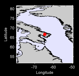 66.70 N, 64.72 W Local Context Map
