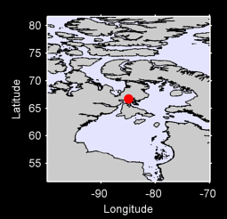 66.70 N, 84.94 W Local Context Map