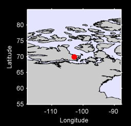 69.92 N, 102.86 W Local Context Map
