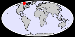 69.92 N, 130.91 W Global Context Map