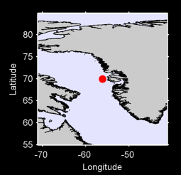 69.92 N, 56.10 W Local Context Map