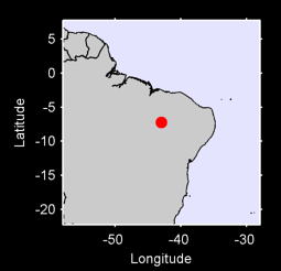 7.23 S, 42.97 W Local Context Map