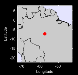 7.23 S, 57.57 W Local Context Map