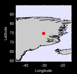 74.74 N, 30.51 W Local Context Map