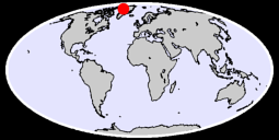 76.35 N, 54.34 W Global Context Map