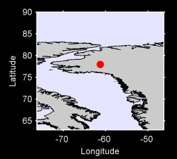 77.96 N, 61.28 W Local Context Map