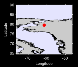 79.58 N, 61.46 W Local Context Map