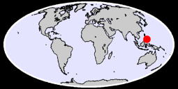 8.84 N, 124.05 E Global Context Map