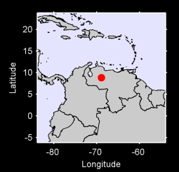 8.84 N, 68.92 W Local Context Map