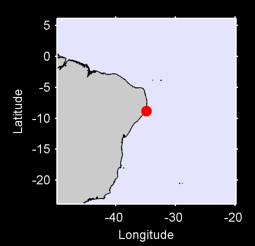 8.84 S, 34.86 W Local Context Map