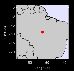 8.84 S, 52.70 W Local Context Map