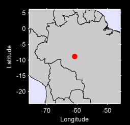 8.84 S, 60.81 W Local Context Map