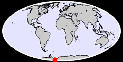84.40 S, 90.00 W Global Context Map