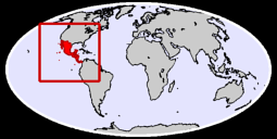 Central America Global Context Map