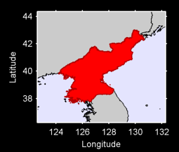 North Korea Local Context Map