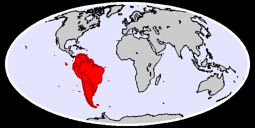 South America Global Context Map