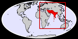 Southern Asia Global Context Map