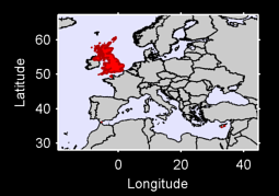 United Kingdom (Europe) Local Context Map