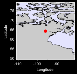 BAKER LAKE CLIMATE, NU Local Context Map