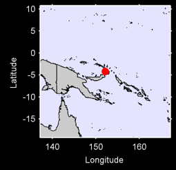 RABAUL  NEW BRITAIN IS. Local Context Map